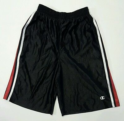 Champion Boys Athletic Basketball Shorts Black Size Large