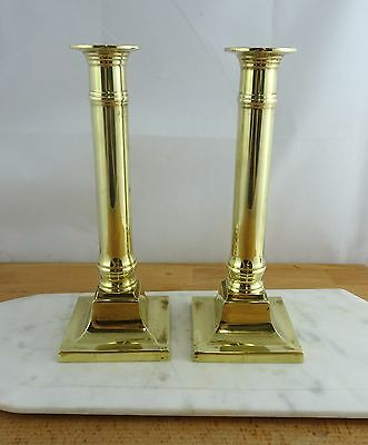 Pair of Vintage Tall Brass Candlestick Candle Holders