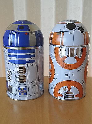 STAR WARS KIRIN Japan Limited The Force Awakens Promotional R2D2 BB8 Tin Cans