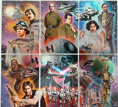 STAR WARS ILLUSTRATED Etched Foil PUZZLE Trading Card  SUB SET  6