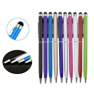 1/5/10X 2 in1 Touch Screen Stylus Ballpoint Pen for iPad iPhone Samsung Tablet G