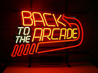 """17""""x14"""" Back to the Arcade Game Room Neon Light Sign Beer Bar Pub Club Display"""