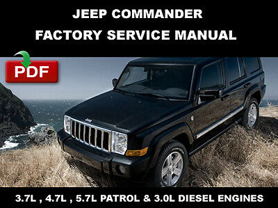 Jeep Commander 2006 2007 2008 2009 2010 Factory Service Workshop Shop Fsm Manual