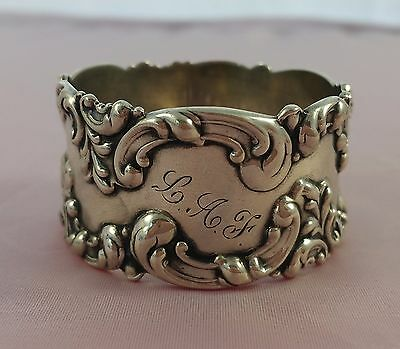 Beautiful Antique Sterling Silver Napkin Ring by Frank M Whiting 28 grams