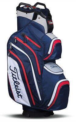 Titleist Deluxe 2017 (blau, weiß, rot) Cart Bag