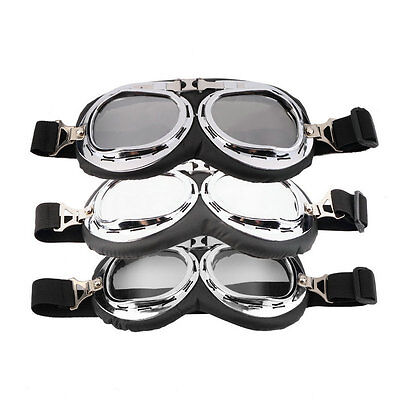 Hot Anti-UV Safety Motorcycle Scooter Pilot Goggles Helmet Glasses Motocross CU