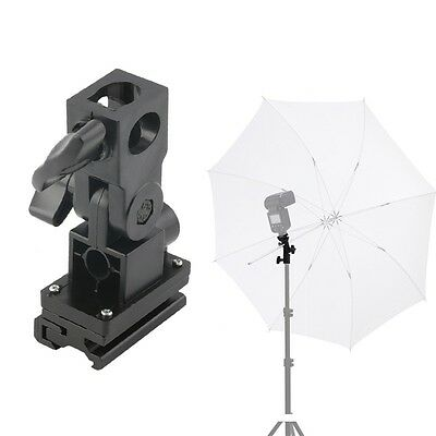 B Type Hot Shoe Flash Umbrella Holder Swivel Light Stand Bracket For Camera CU