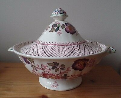 Masons Ironstone - Paynsley Pink - Lidded Tureen - Excellent