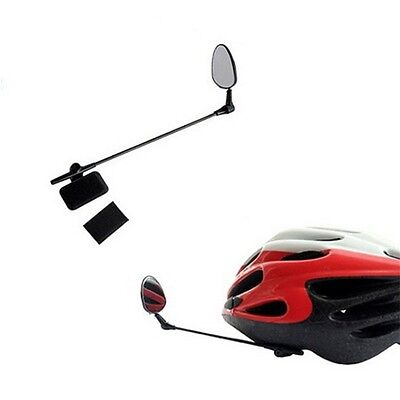 Bike Bicycle Motorbike Cycling Helmet Rear View Back Rearview Safety Mirror CU