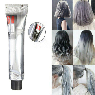 DIY Fashion Grannyhair Light Gray Hair Colouring Cream Permanent Super Dye 100ml