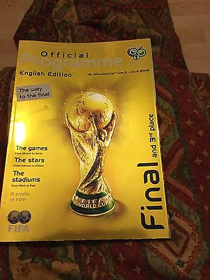 World Cup 2006 Final Programme English Edition Multi Signed