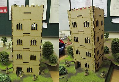 28MM Tower Building Scenery Medieval  Ancient Fantasy etc Laser Cut MDF 5 Stoery