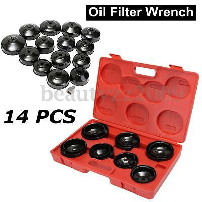14PCS Cup Type Aluminium Oil Filter Wrench Removal Socket Remover TOOL KIT 2017