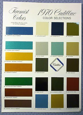 CADILLAC 1970 COLORS trifold