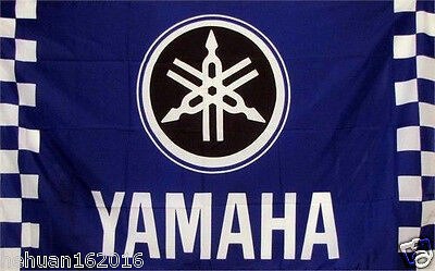 NEW  car racing flag banner flags 3x5FT free shipping for YAMAHA Flag BLUE