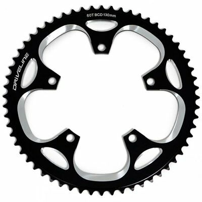Driveline CNC Alloy 7075 Road Bike Bicycle Chainring 60T, BCD 130mm , Black