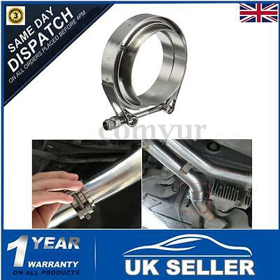 Stainless Steel 2.5'' 63mm V Band Heavy Duty Clamps & Flanges Exhaust Set Turbo