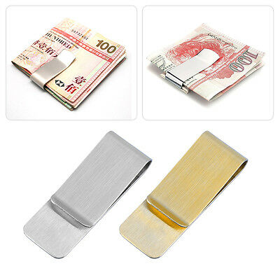Men Stainless Steel Money Clip Cash Note Credit Card Holder Wallet Purse CU