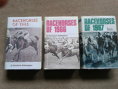 **Rare Opportunity** 3 Timeform Racehorses 1965 1966 & 1967 FREE POSTAGE