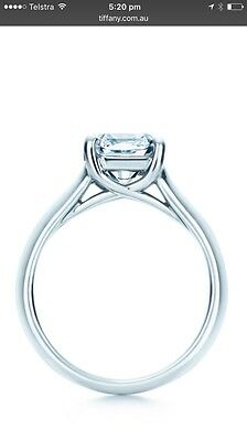 Tiffany & Co Diamond and White Gold Engagement Ring