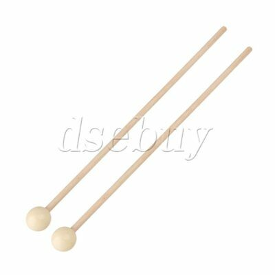 Pair Xylophone bell & unwood Mallets, Medium hard nylon for a focused wound