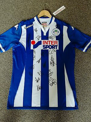 Signed Wigan Athletic Shirt. Adults XL Brand New. Signed by 2016 Winning Squad.