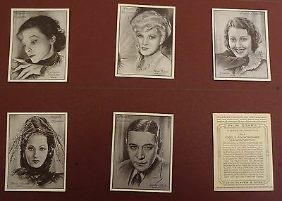 Film Stars (A Series) Issued 1934 By Players Set L25