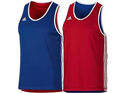 Adidas Boxing Mens womens Reversible Base Punch Vest - Blue/Red XS - XXL