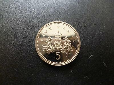 1991 5P Coin In  Brilliant Uncirculated Condition, 1991 Uncirculated Five Pence.