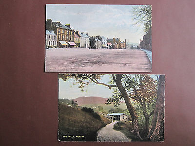 Moffat - 2 National Series vintage postcards