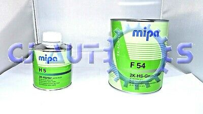 Mipa F 54 2K Acrylic Filler Grey 1L And H 5 Extra Fast Hardener 250Ml Kit