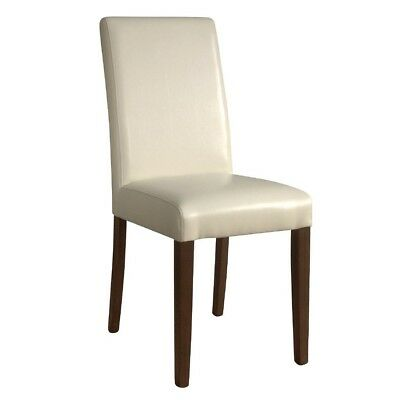 2x Bolero Faux Leather Dining Chairs Cream Restaurant Cafe Hotel Furniture