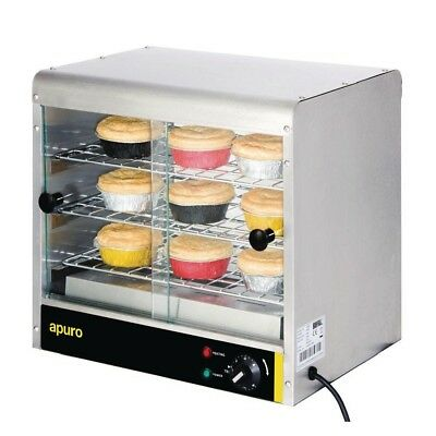 Apuro Pie Cabinet - 30 Pies Food Warmer Stainless Steel Electric Warming Hot