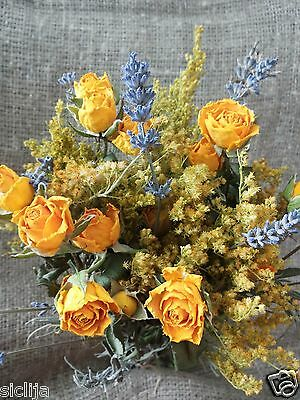 Bouquets of Natural Dried Rose and Lavender dried  flowers Bouquets  Handmade