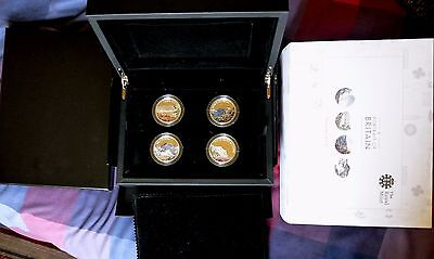 A Portrait Of Britain Silver Proof 4 X £5.00 Coin Set 2016