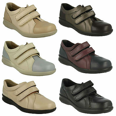 Ladies Db Easy B Flat Leather Riptape Strap Casual Everyday Trainers Shoes Naomi