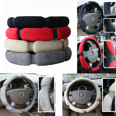 G Car Decorative Accessories Anti-skid Comfortable Suede Steering Wheel Cover