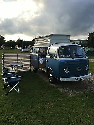1973 Volkswagen Camper VW Type 2 Late Bay Window Campervan Full Pop-Top
