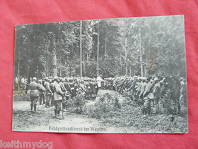 Field Worship Service in the West(Soldiers at Mass)-WW1 German Military Feldpost