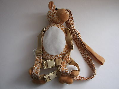 Brown & White Giraffe Safety Harness - Gold Bug