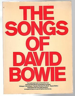 DAVID BOWIE The Songs Of Sheet Music Book 144 Pages 1977