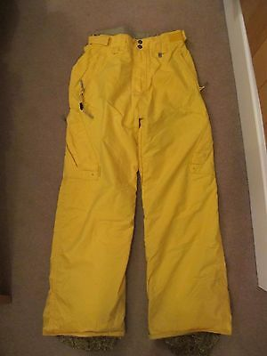 Men's Special Blend yellow SMALL snowboard/ski pants