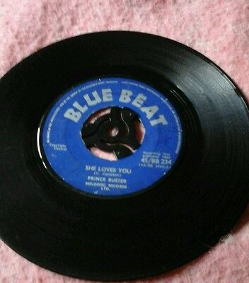 """She Loves You-Prince Buster.vinyl7"""" 45Rpm Blue Beat.vgc"""