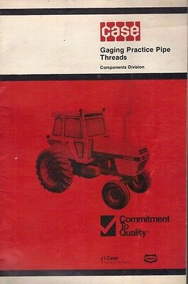 Great J.I. Case 1979 Gaging Practice Pipe Threads Quality Control Booklet