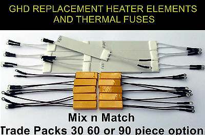 GHD 70 Ohm,GHD 160 Ohm Heaters Elements And Thermal Fuse TRADE SIZE PACKS