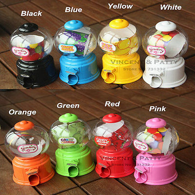 Cute Sweets Mini Candy Machine Bubble Gumball Dispenser Coin Bank Kids Toy CU