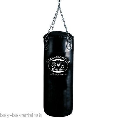 BAY STAR 85 x 30 cm filled Sandbag with steel Chain Boxsack Punchbags black