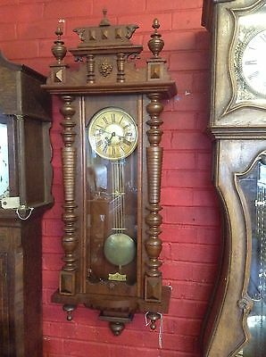 ***REDUCED*** Vienna Wall Clock C.1880 Eight Day Spring Driven