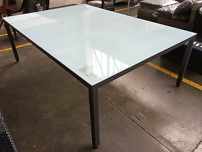 Shelta Narvik Outdoor Glass Top Dining Table 2200mm X 1500mm