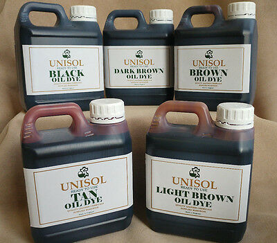 Unisol Oil Dye for vegetable tanned leather, pigment stain